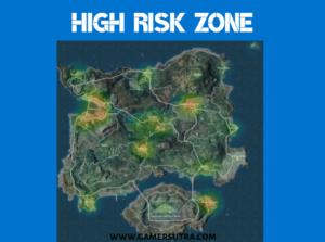 Top High Risk Zone- PUBG Erangel map