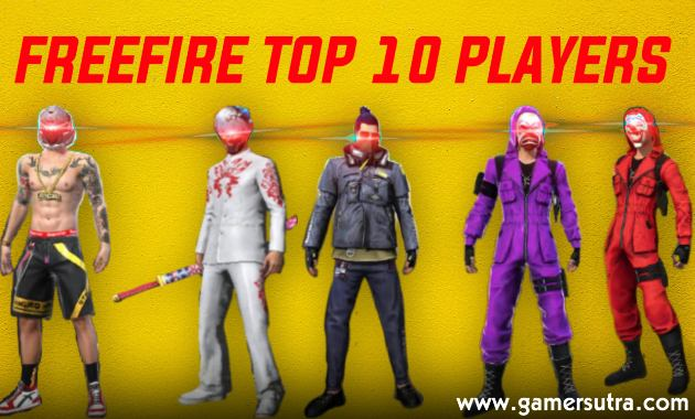 Top 10 Free Fire Players in India 2020