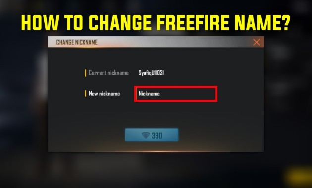How To Change Free Fire nickname: Stylish Name In Free fire