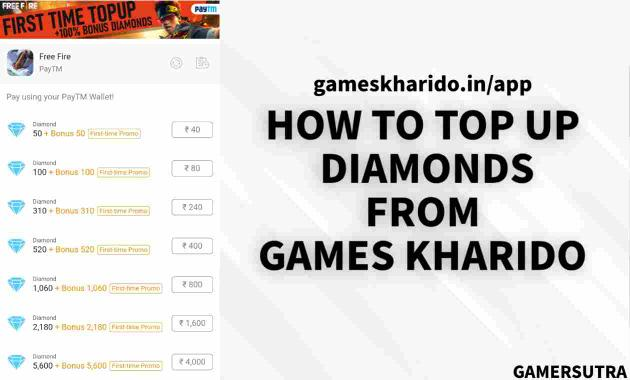 How To Top Up Diamonds From Games Kharido