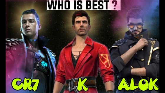 DJ Alok vs K vs Chrono - Who is the Best Character in Free Fire