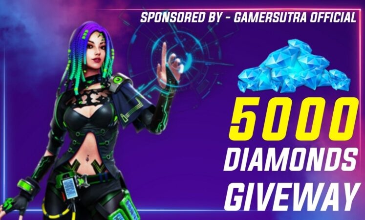 Gamer Sutra: Free Fire 5000 Diamonds Giveaway