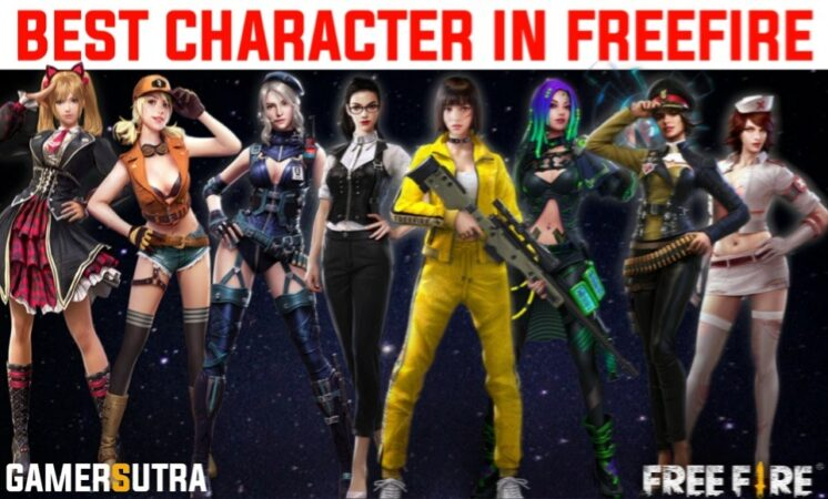 BEST 5 CHARACTERS IN FREE FIRE