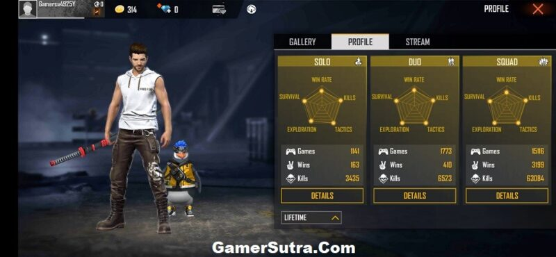NayeemAlam Free Fire ID Number, stats, and K/D ratio