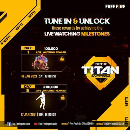 Free Fire Titan Invitational Tournament Rewards