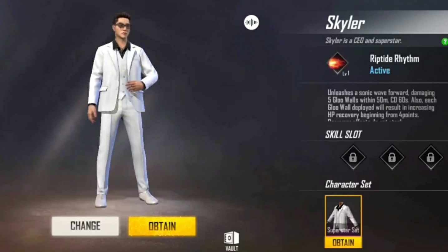 Skyler Character Free Fire Ability