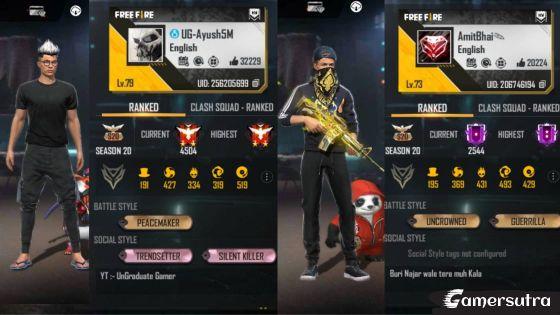 Desi Gamer vs Undergraduate Gamer - Who Has Better Stats in Free fire?