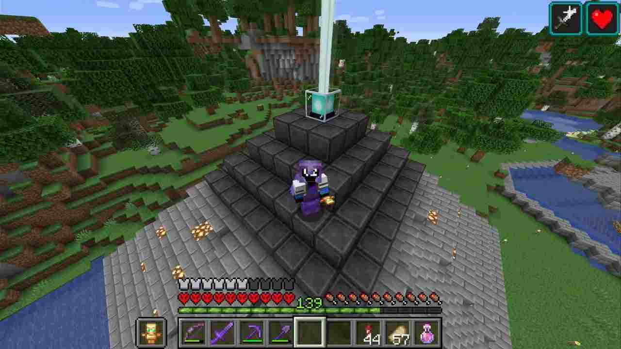 Beacon (Top 5 Uses of Obsidian in Minecraft)