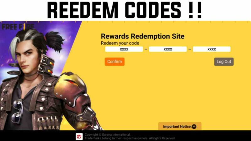 Free Fire Redeem Code Today For April 2021 Updated